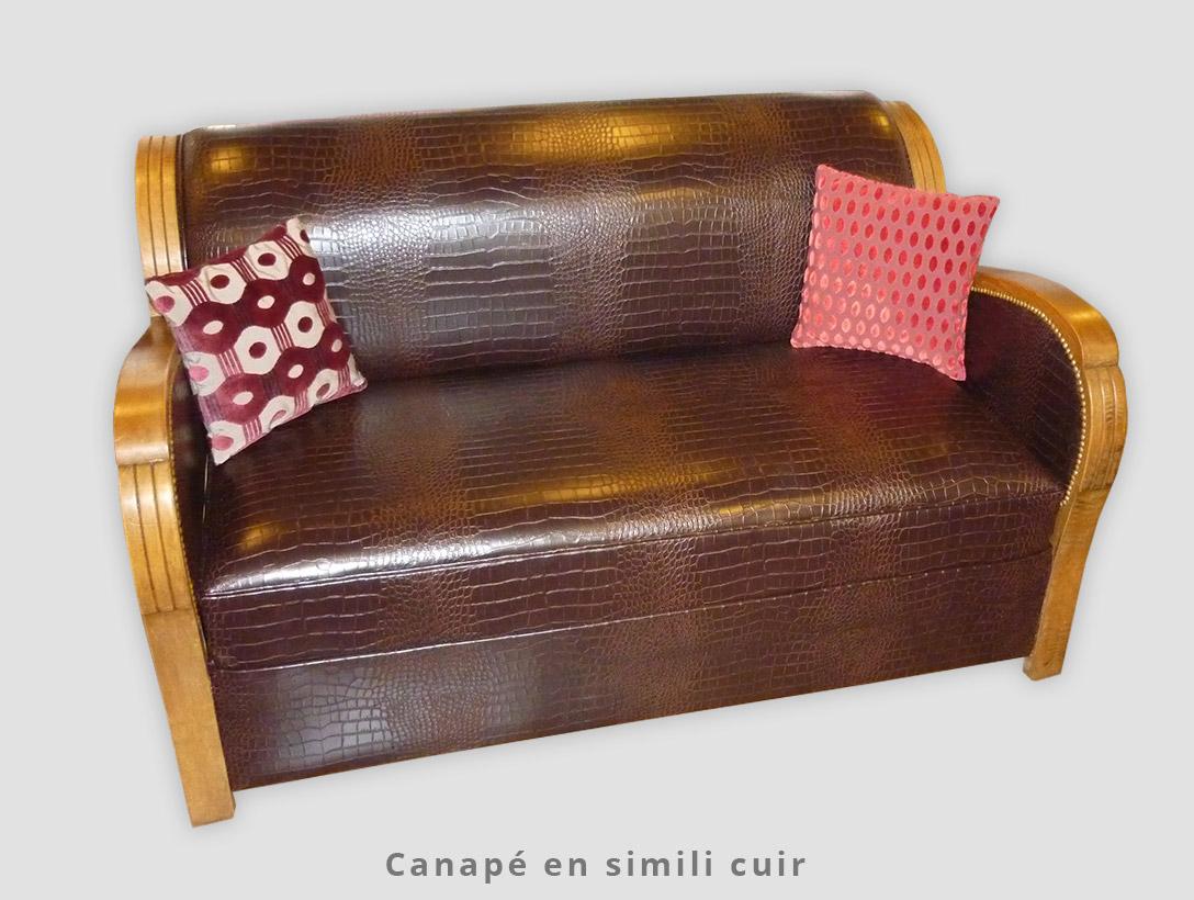 Canapé en simili cuir
