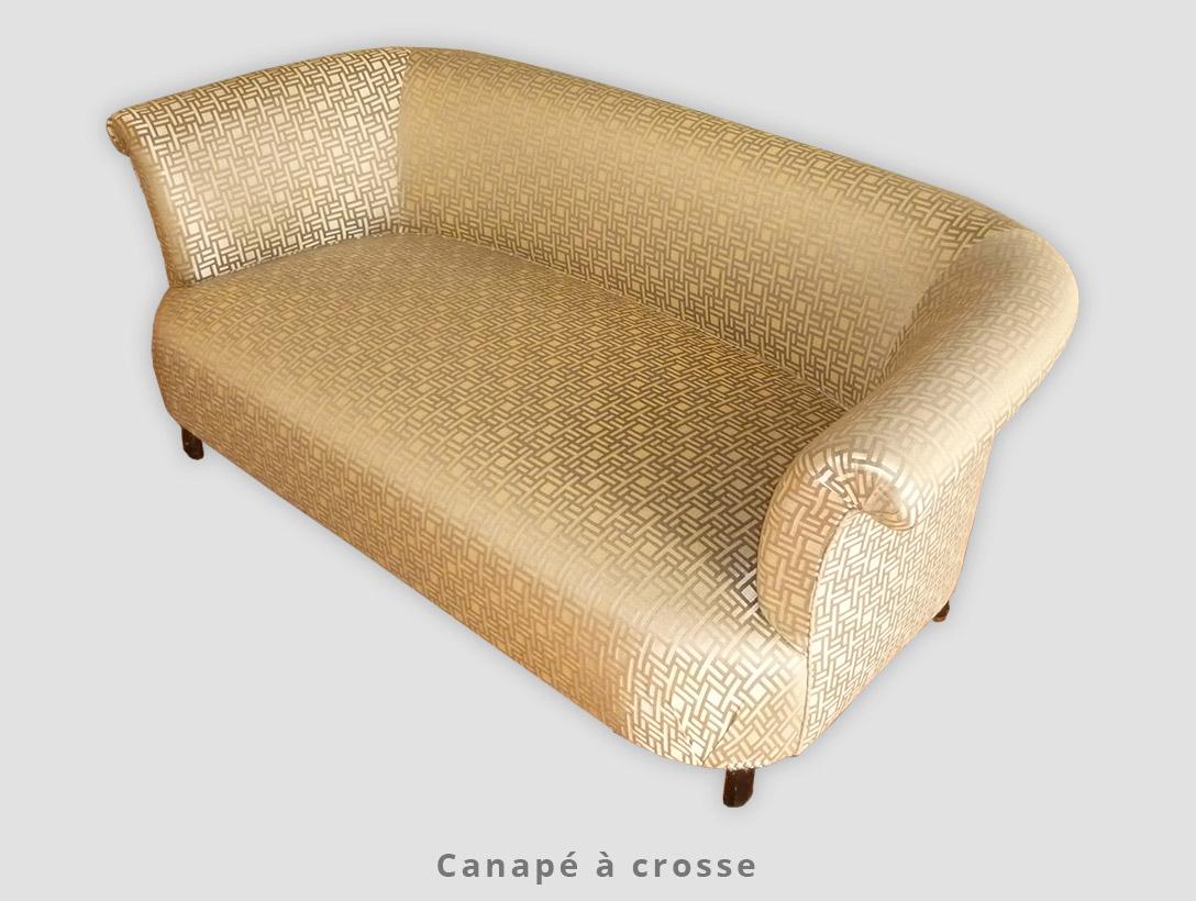 Canapé à crosse