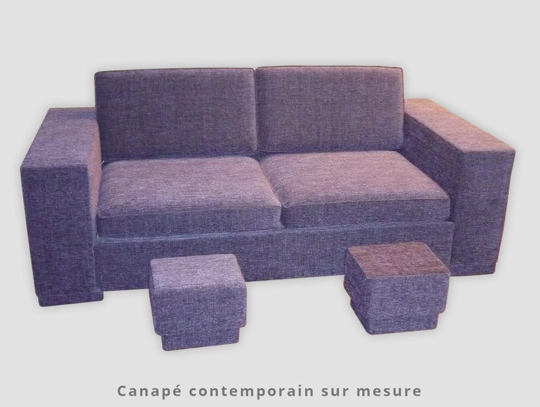 Canapé contemporain sur mesure